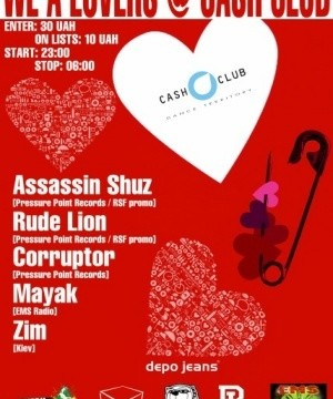 WE A LOVERS@CASH CLUB