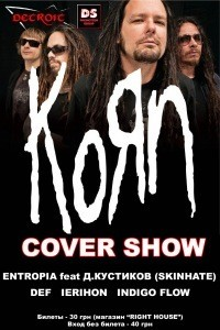 KORN cover show