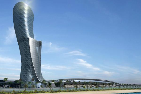 Новый Hyatt Capital Gate в Абу-Даби