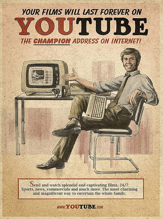 Винтажные постеры главных онлайн-брендов