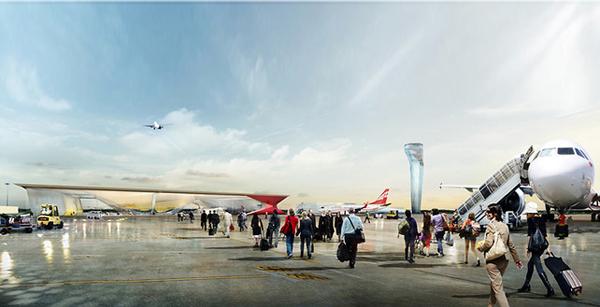 Аэропорт будущего в Кутаиси от UNStudio