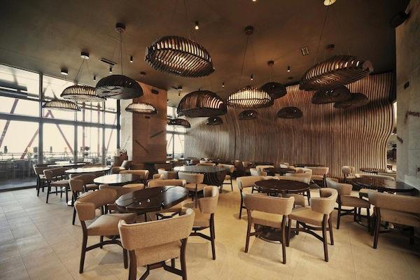 Необычное кафе в форме мешка для кофейных зерен