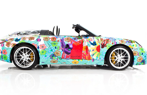 Граффити Miguel Paredes на Porsche