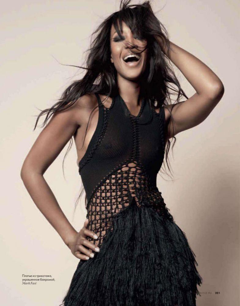 Наоми Кэмпбелл для февральского выпуска Elle Russia