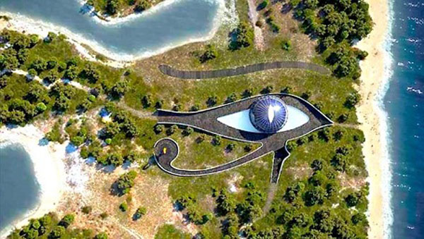 Наоми Кэмпбелл построила дом в виде глаза