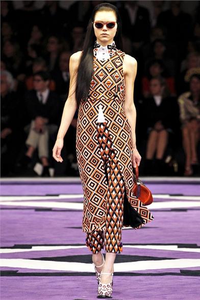 Стиль 70-х от Prada