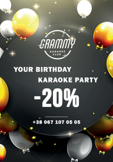 Your birthday karaoke-party -20%