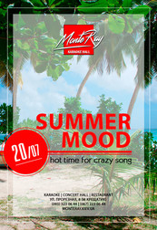 Summer mood Karaoke party